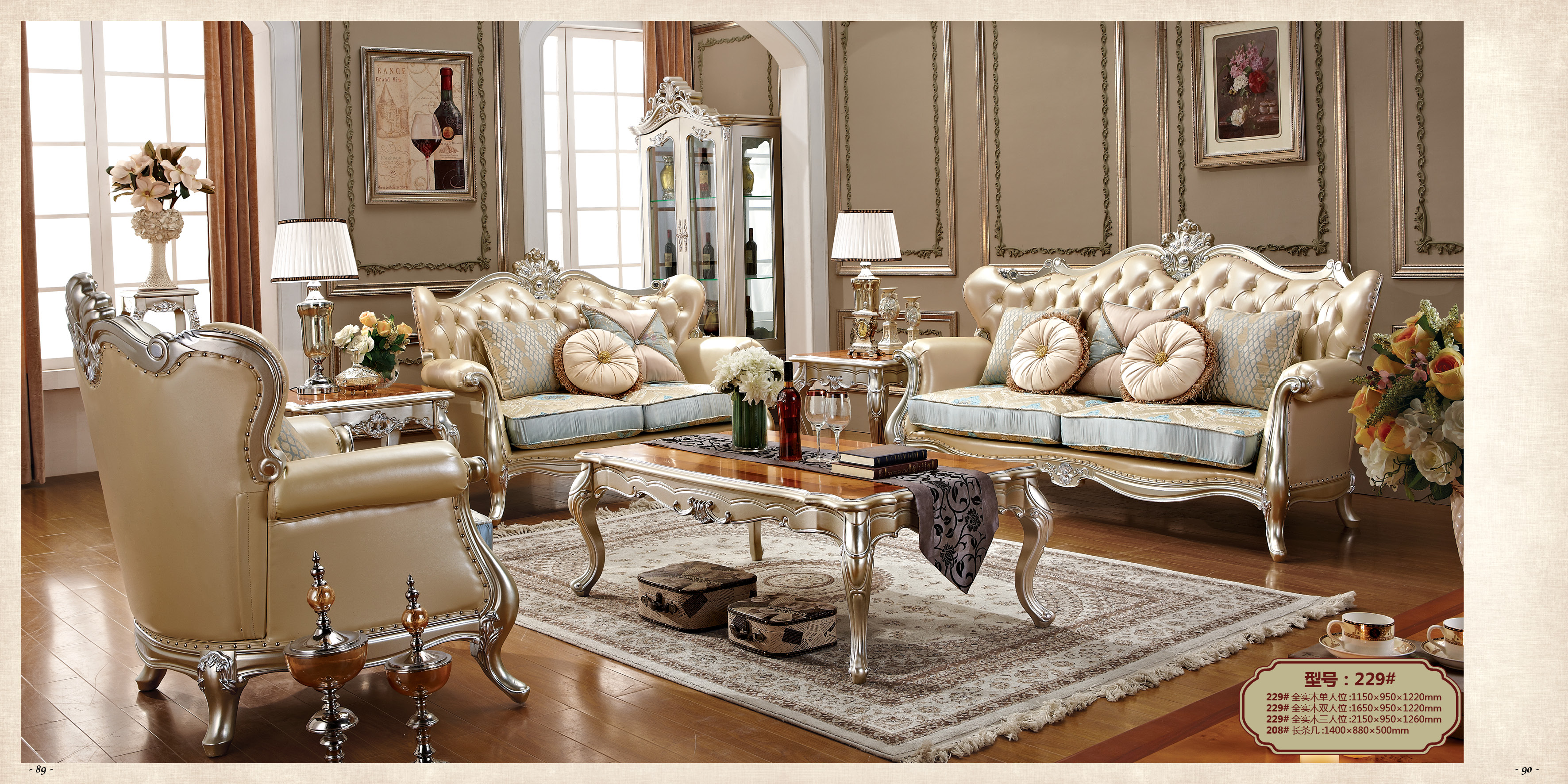 Factory wholesale luxury top quality genuine leather sofa set living room furniture camas 4