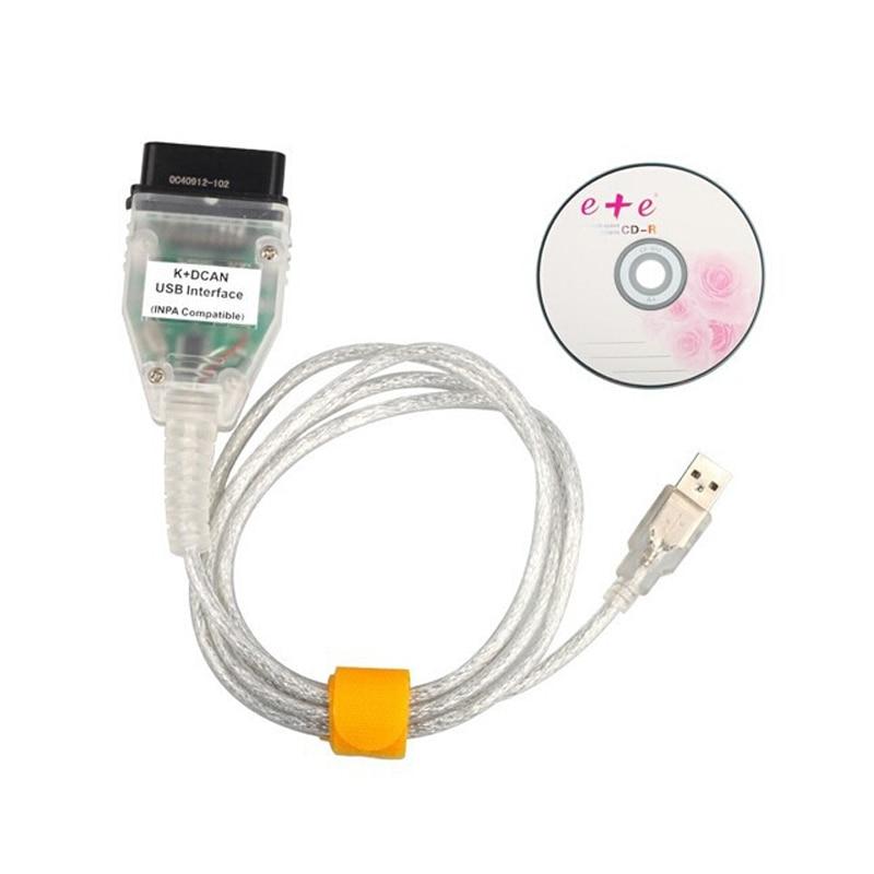 Автомобильные диагностические кабели и разъемы для INPA K + DCAN K DCAN INPA для BMW, USB интерфейс, Полная диагностика @ 2