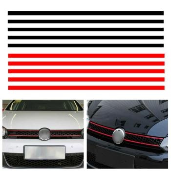 Car Strip Sticker Reflective Stickers Front Hood Grille Decals Car Styling Auto Decoration Fit for VW Golf 6 7 Tiguan CSV image