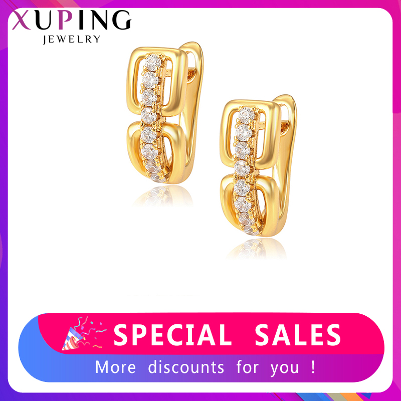 Xuping European And American Style Earrings Elegant Hoops For Women Temperament  Jewelry Party Elegant Gifts S233.9-80248