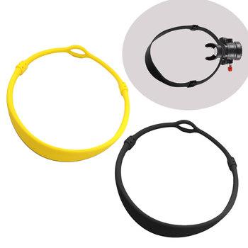 76 82CM nurkować nurkowanie silikonowy Regulator naszyjnik uchwyt elastyczny ustnik Regulator naszyjnik pierścień uchwyt ośmiornicy tanie i dobre opinie CN (pochodzenie) 76CM Diving Silicone Regulator Necklace