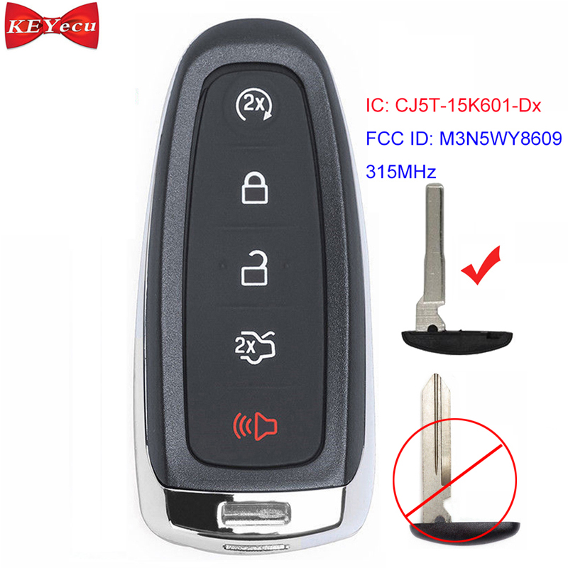 2 For 2013 2014 2015 2016 2017 Ford Flex Remote Shell Case Car Key Fob Cover