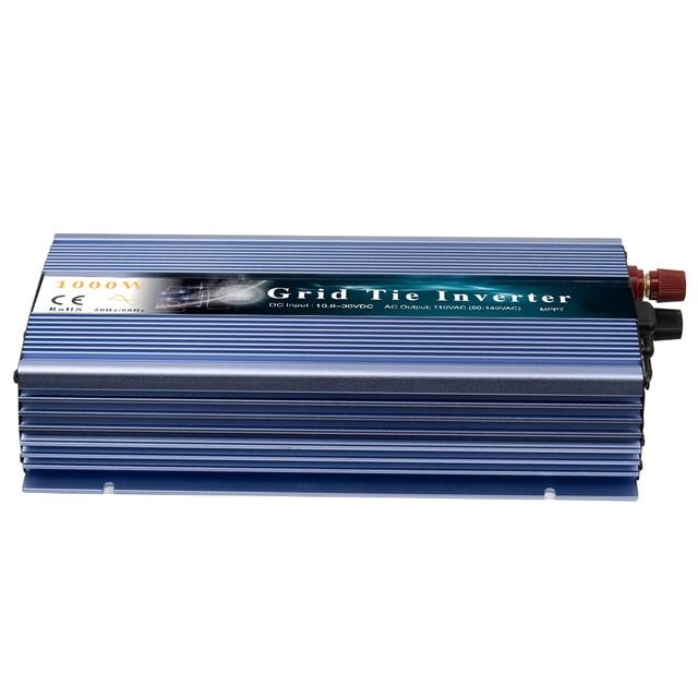 Micro onduleur solaire MPPT 1000W sur grille   Convertisseur 10.8-30V cc pour AC 80-260V, onde sinusoïdale Pure pour 1000-1200W