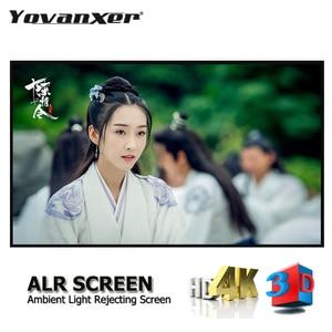 """Image 1 - Окружающий светильник, отвергающий ALR тонкий проектор с фиксированной рамкой, экран 80 """" 150"""", ультра тонкий приграничный анти светильник, проекция"""