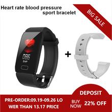 Relógio inteligente medição da pressão arterial q1 pulseira de fitness à prova dwaterproof água esporte cicret pulseira para homens mulher atividade rastreador