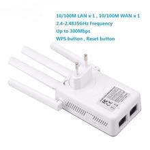 ไร้สาย 2.4GHz WIFI WIFI 300Mbps 2 RJ45 พอร์ต Repeater เสาอากาศรับสัญญาณสูงสะพานสัญญาณ Wi Fi Access Point ระยะทางยาว