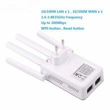 Sem fio 2.4 ghz wifi 300 mbps 2 portas rj45 repetidor alto ganho antenas ponte amplificador de sinal wi fi ponto acesso longa distância