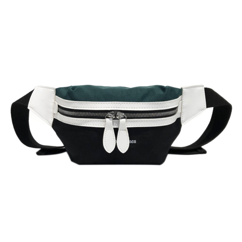 Waist Bag Women New Canvas Leisure Panelled Fanny Pack For Girls Letter Bum Bag Packs Fashion Chest Bag Crossbody Bag Belt Bag