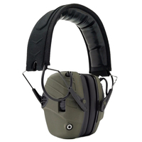 Electronic Earmuff NRR 25DB Hunting Electronics Protection Hunting Ear Muffs (Olive Green)   -