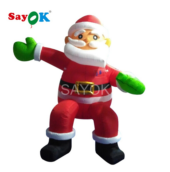 Inflatable Santa Claus 2m/6.5ft High Christmas Decorations for Home Sitting Santa Claus for Shop Mall or Home Decoration