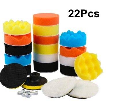 Supply Cross Border Electricity Supplier Product 3 Inch 22 Pieces Car Beauty Polishing Sponge Wheel Waxing Plate Wool Wheel|Grinding Wheels| |  - title=