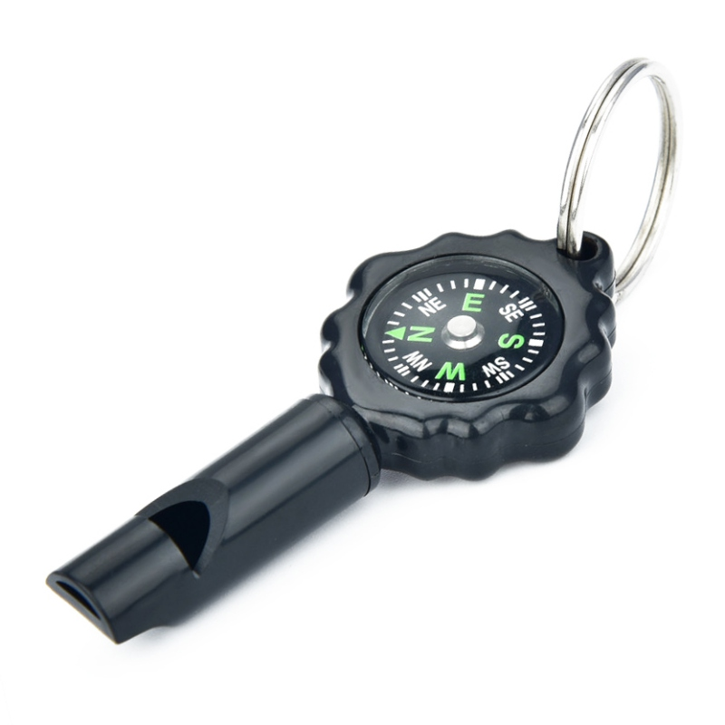 Multifunctional Whistle With Compass Key Ring EDC Sports Emergency Survival Tool For Outdoor Hiking Traveling Camping(China)