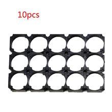 Abrazaderas de plástico de seguridad para pilas, soporte para baterías 3x5, color negro, 21700, 10 Uds., 21700