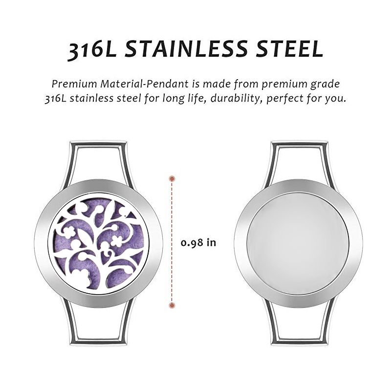 25mm leather stainless steel bracelet esstenial oil bangle-2