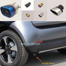 Para benz smart fortwo 2015 2016 2017 2018 capa do carro silenciador exterior extremidade traseira tubo dedicar ponta de escape cauda saída ornamento