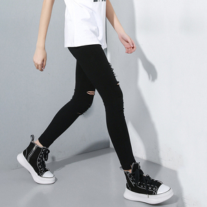 Image 4 - [EAM] High Waist Black Slim Trousers New Loose Fit Pencil Pants Women Fashion Tide All match Spring Autumn 2020 1A698