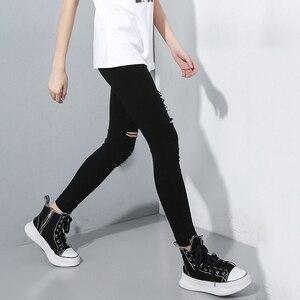 Image 4 - [EAM] גבוהה מותן שחור Slim מכנסיים חדש Loose Fit מכנסי עיפרון נשים אופנה גאות כל התאמה אביב סתיו 2020 1A698