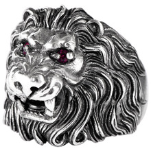 925 sterling silver jewelry domineering fashion lion king artificial red zircon men's ring 925 sterling silver king kong ring mens biker punk ape king ring us size 7 5 10
