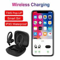 B10 TWS True Wireless earphones Bluetooth 5.0 Earhook Sports Wirless Charge headphone Voice Control IPX5 Waterproof Sport Earbud