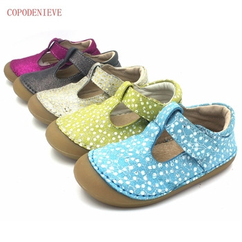 COPODENIEVE high quality childrens sandals leather single shoes kids Summer Toddlers Infant Kids Shoes Genuine Leather