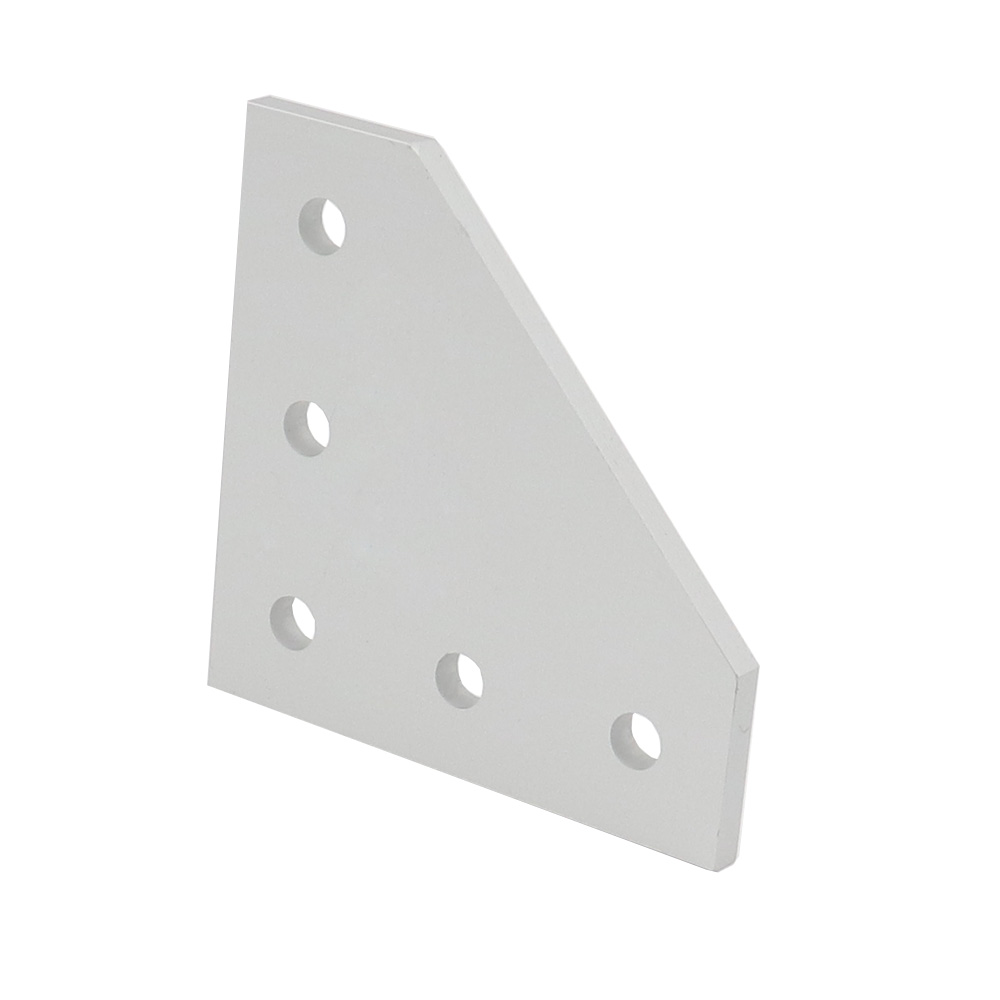 <font><b>2020</b></font> / 3030 with 5 hole L type 90 Degree Joint Board <font><b>Plate</b></font> <font><b>Corner</b></font> Angle Bracket Connection for Aluminum Profile image