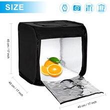 TRUMAGIN Portable Photo Studio boîte 17 pouces 45cm professionnel tir lumière tente avec luminosité réglable 144 LED lumières 4