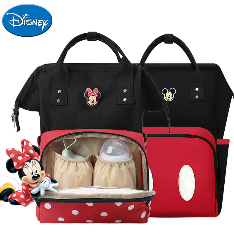 Disney Minnie Mickey Mouse Mummy Diaper Bags For Baby Care Large Nappy Bag Handbag Maternity Women Travel Backpack Package