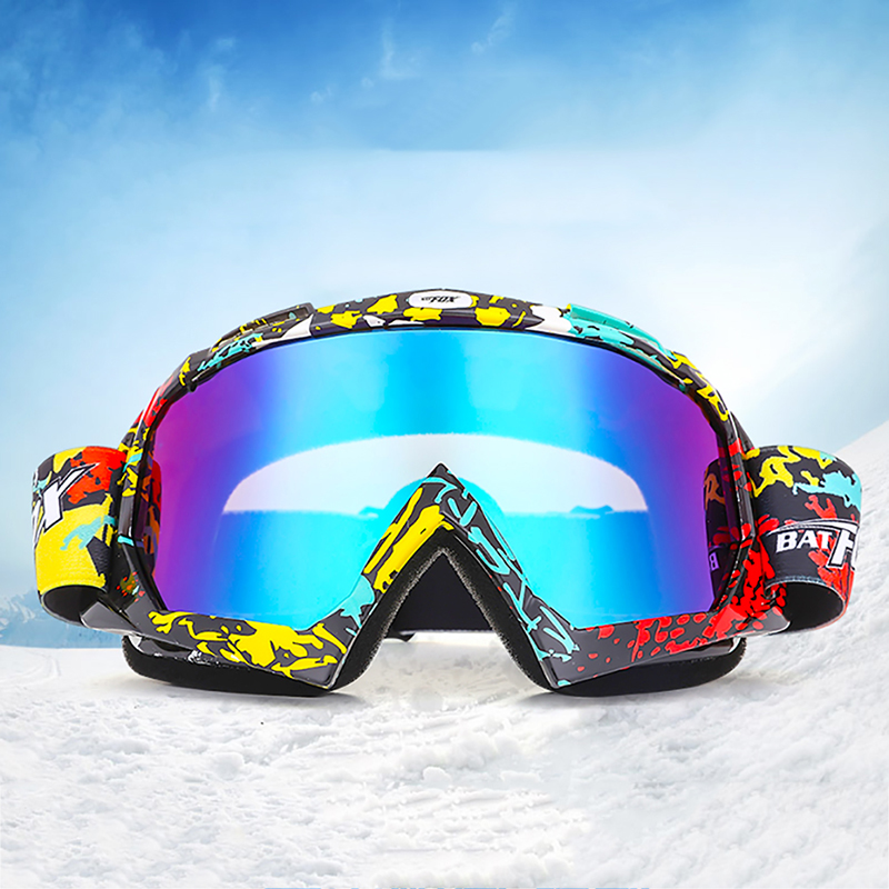 Unisex MTB Skiing Glasses Anti-UV Eyewear Polyester PC+PVC Sport Glasses Multi Colors Goggle
