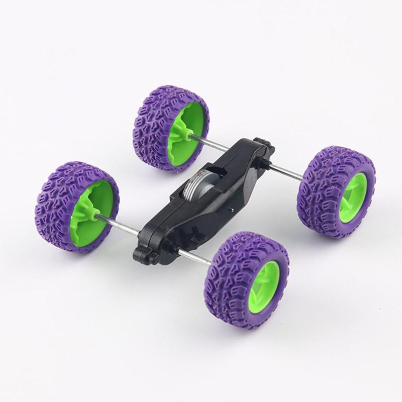 Inertia Roll Over Car Materials DIY Stunt Science Projects Teaching Equipment Technology Model Kit Vehicle Experiment