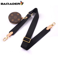 BAMADER Canvas Webbing Wide Bag Strap Adjustable Shoulder Strap Plus Coin Purse Leather Cowhide Women Bag Replacement Bag Strap