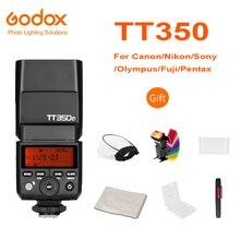 Godox mini speedlite tt350c tt350n tt350s tt350f tt350o tt350p câmera flash ttl hssgn36 para canon nikon sony fuji olympus pentax
