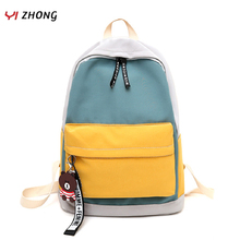 Waterproof Backpack Breathable Canvas version of collision color Leisure School Bag Women Bear accessories Travel bag Mochilas