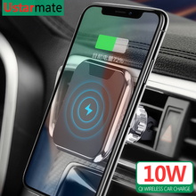Qi Wireless Charger Magnetic Car Holder for iPhone X Xs 8 Max 10W Wireless Fast Charging for Samsung S8 S9 S10 Note 8 9 10 Plus
