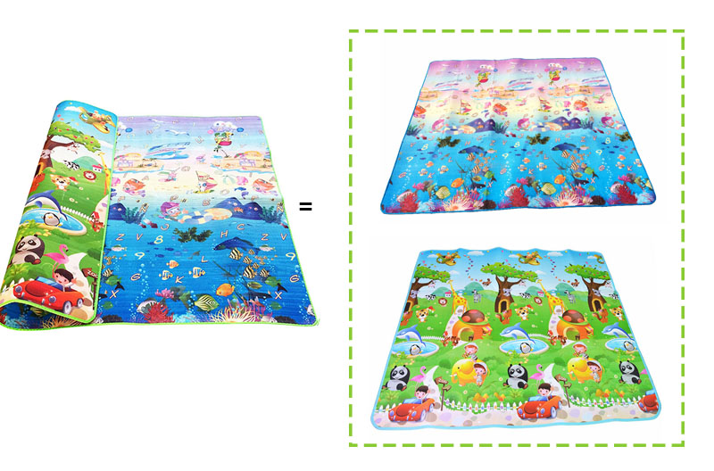 H99b1232e8b534f2b889ef77e8ccaaaeat Baby Crawling Puzzle Play Mat Blue Ocean Playmat EVA Foam Kids Gift Toy Children Carpet Outdoor Play Soft Floor Gym Rug