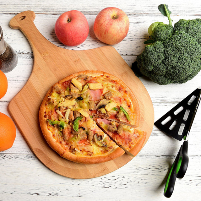 Wooden Pizza Shovel And Cutting Board  2