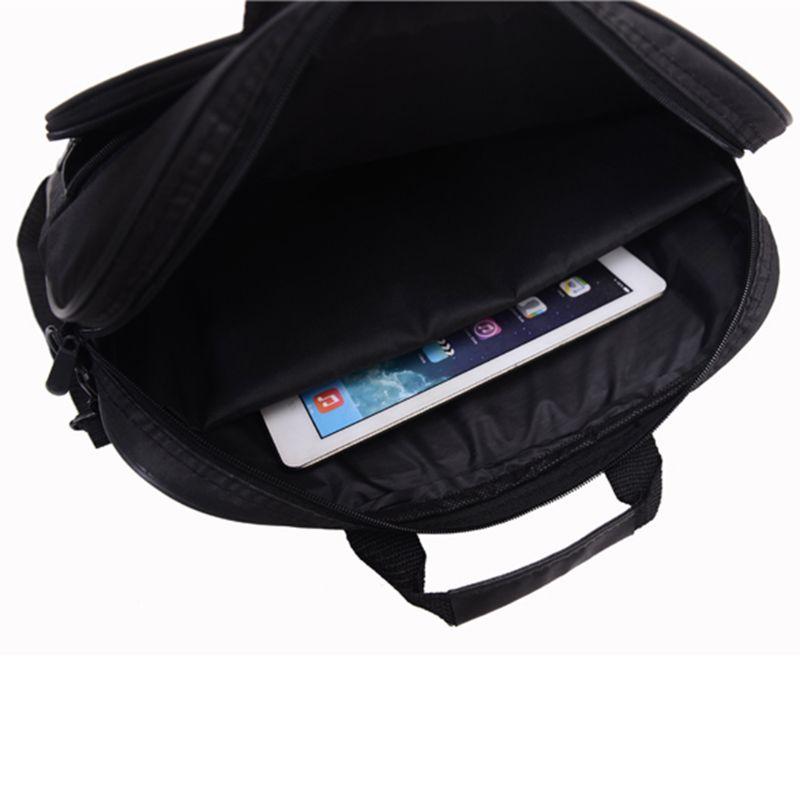 Briefcase Bag 15.6 Inch Laptop Messenger Bag Black Business Office Bag Computer Handbags Simple Shoulder Bag for Men Women 3