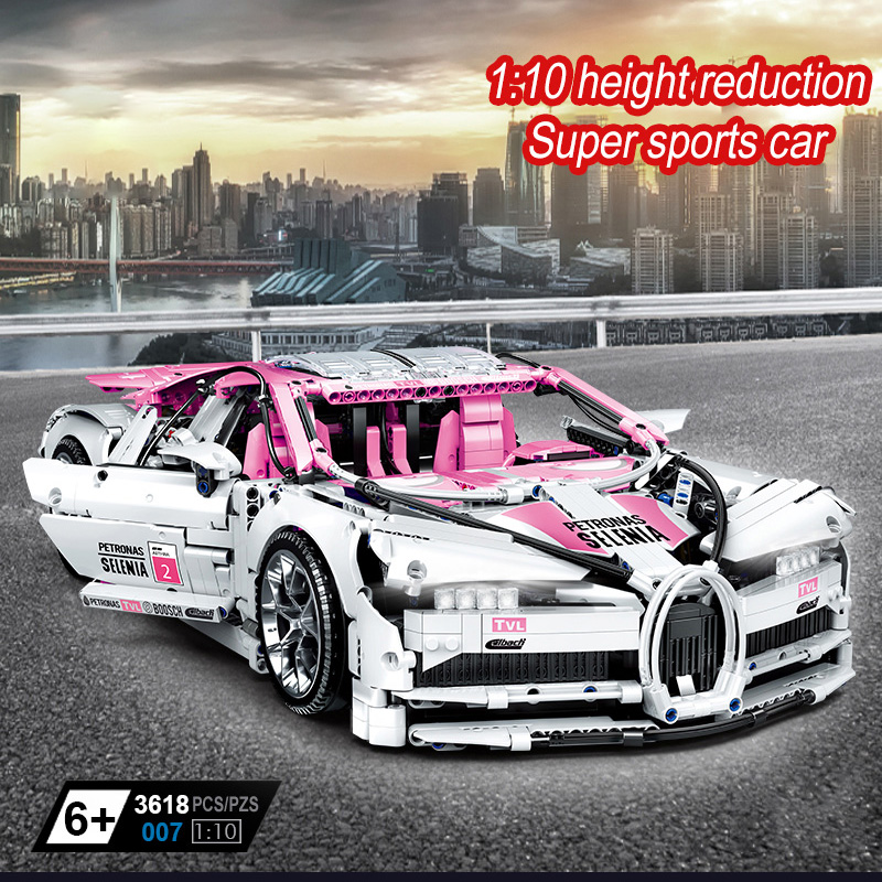 3618PCS Super Racing Car Building Blocks Model Set Technic Compatible DIY Blocks Toys For Children Christmas Gift Car Bricks