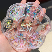 3D Nail Resin And Alloy Jewelry In 1 Big Wheel Bear Butterfly Bowtie Nail Colorful Holographic Charms For Nail Art Accessories