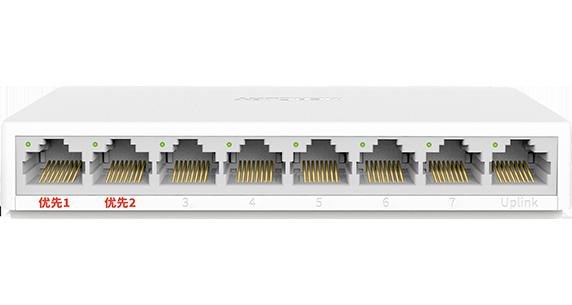 mercury 8-port Gigabit security monitoring dedicated switch MCS1508M RJ45  over distance port MAC desktop plastic case mini-0