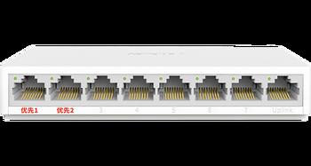 mercury 8-port Gigabit security monitoring dedicated switch MCS1508M RJ45  over distance port MAC desktop plastic case mini
