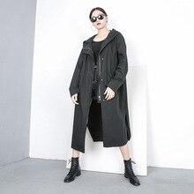 TVVOVVIN новая весенняя модная женская одежда однобортный Кардиган с капюшоном и рукавами летучая мышь большого размера WK12700