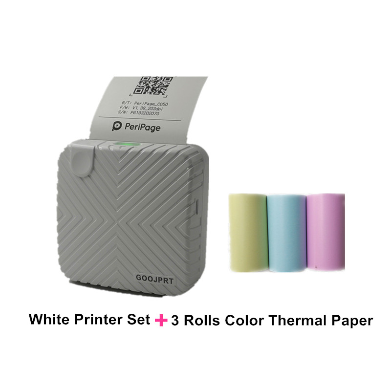 HOT New Arrival P6 mini thermal bluetooth photo printer for mobile white printer color thermal paper