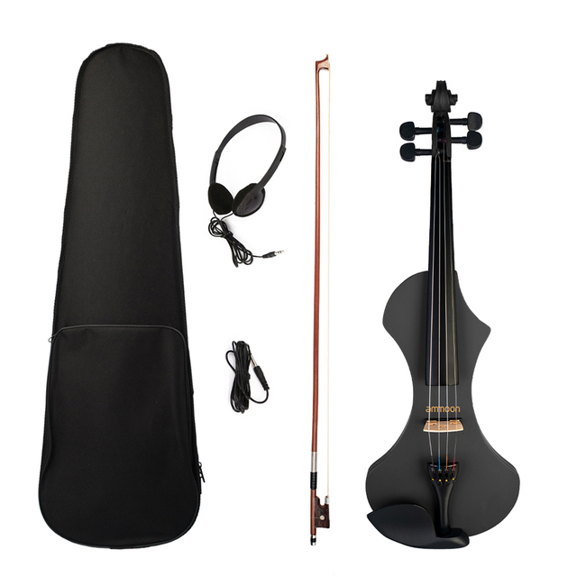 Electric Violin with Brazilwood Bow, Headphones, Carry Bag & 6.35mm Audio Cable 6