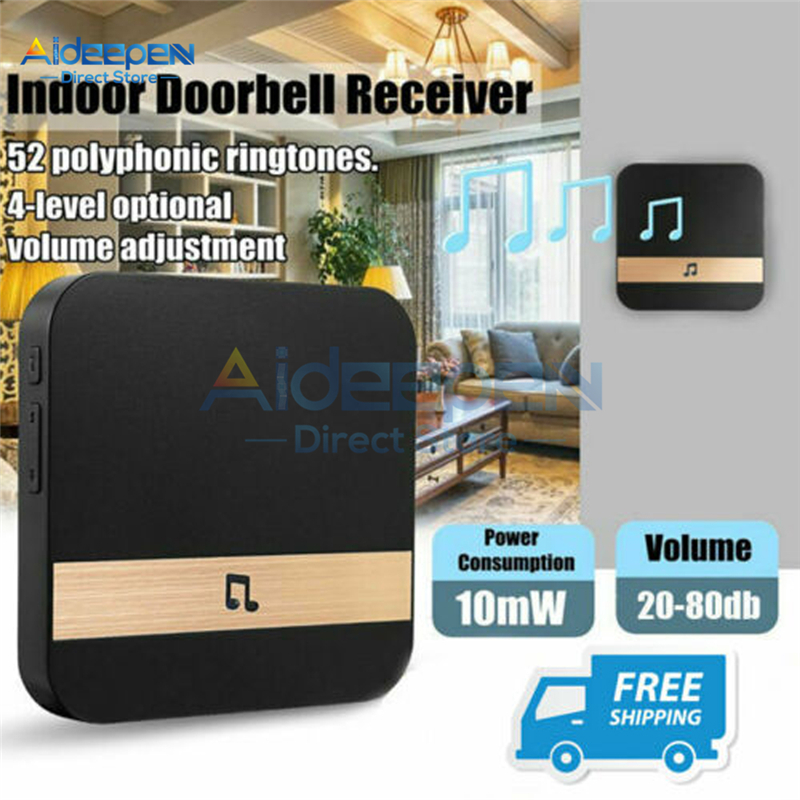 433MHz AC 110-220V Wireless Wifi Smart Doorbell Chime Music Receiver Home Security Indoor Intercom Door Bell Receiver US EU Plug
