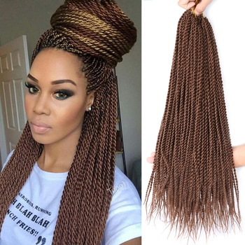 DAIRESS 30Roots/Pack Senegalese Twist Crochet Braids Hair 15 Colors Afro Kinky Twist Hair Extensions Havana Mambo Twist Hair фото