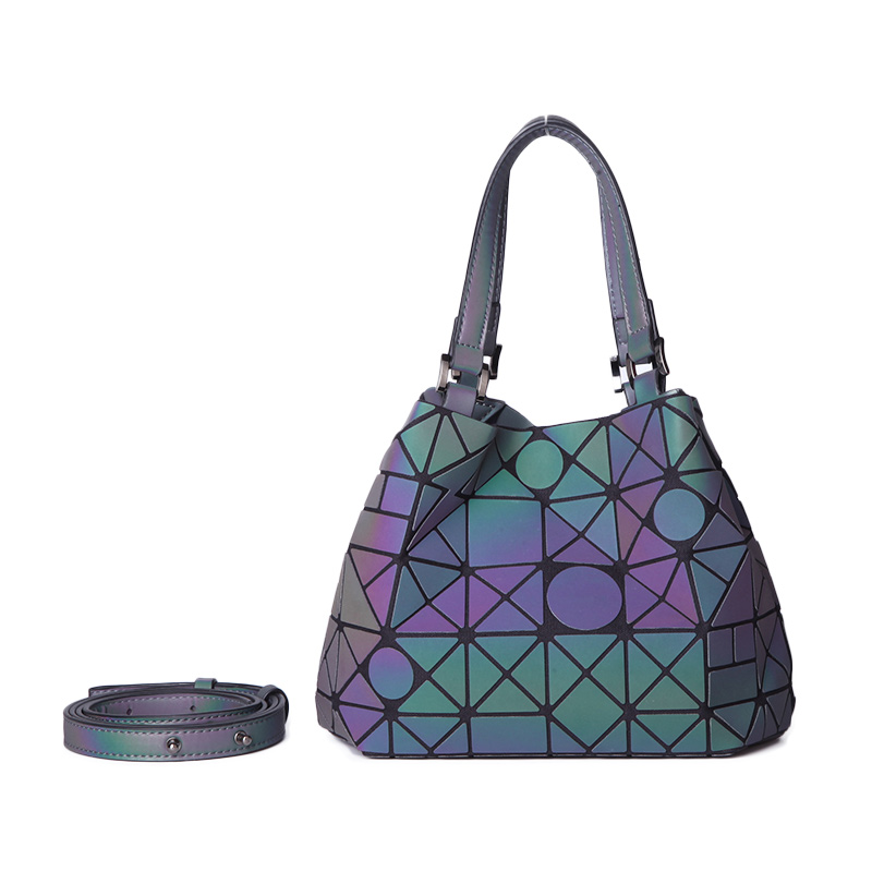 LOVEVOOK Women Shoulder Bags Crossbody Bags For Ladies 2019 Foldable Large Tote Hobo Female  Geometric Bag Holographic Refretion