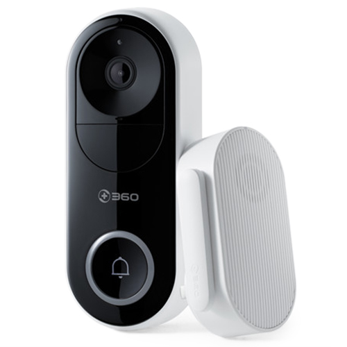 360 D819 Doorbell Remote Monitoring Wireless WiFi Visitor Recognition Video Call Ultra Clear Night Vision Smart Camera Doorbell