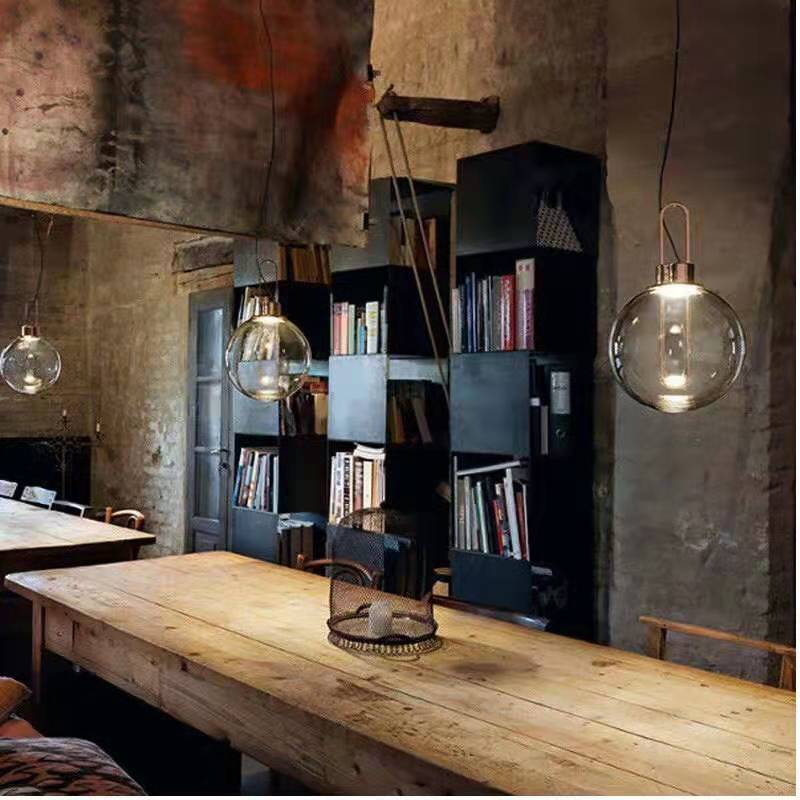 Modern Pendant Light Silver Gold Glass Ball Hanging Lamp Hanglamp Kitchen Light Fixture Dining Living Room Luminaire
