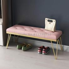 Light Shoe-Stool Bench-Clothing Fitting-Room Store Entrance Nordic Luxury Sofa Home on