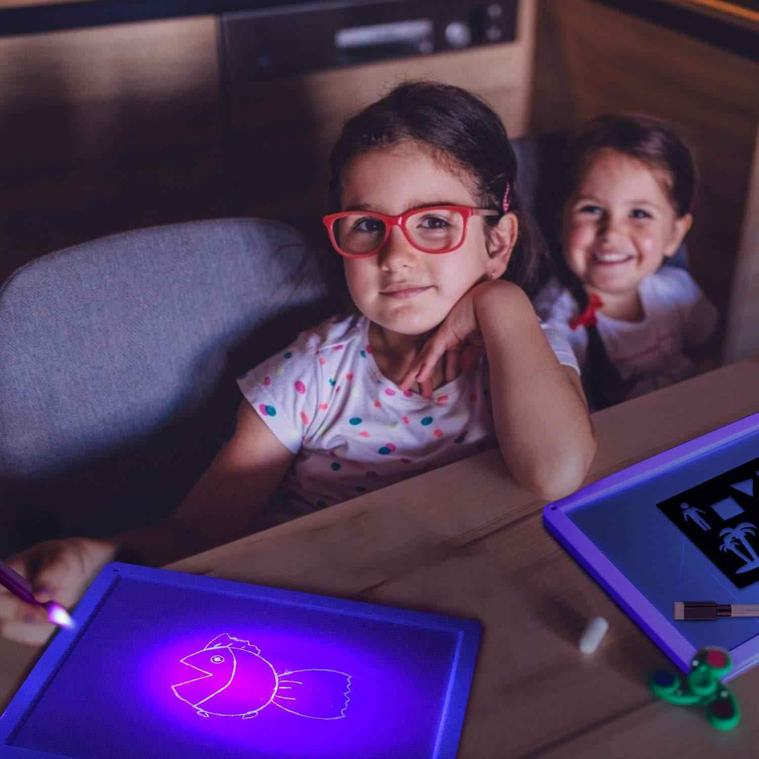 Draw with Light 3D Kids Drawing Toys Set A4 A3 A5 Night Light Drawing Board Tablet In Dark Child Fun Developing Drop Shipping